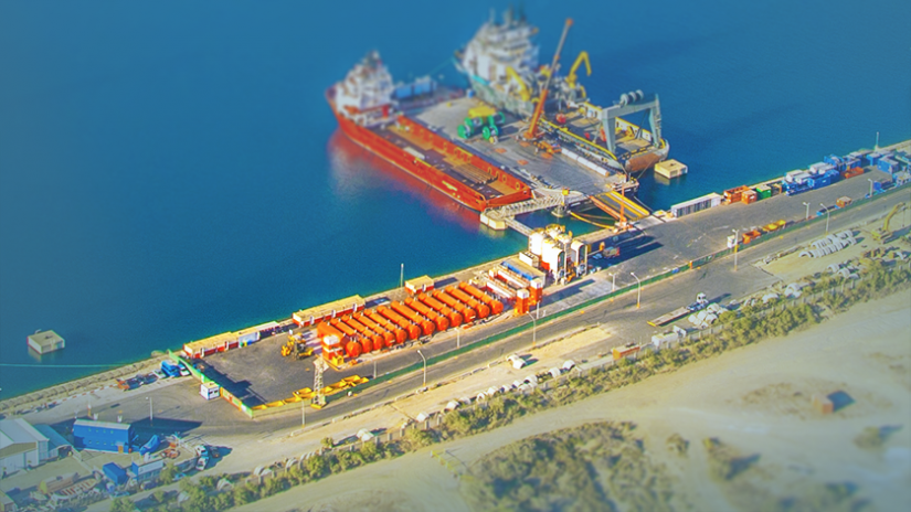 Drilling Fluids Plant at EDT Shore Base, New Port of Limassol, Cyprus, constructed and co-operated by EDT Agency Services