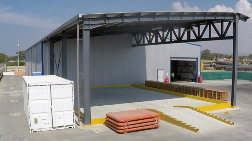 EDT Offshore - Oil & Gas Logistics Shorebase in the New Port of Limassol - Warehouse with Hazardous Goods Contained Area