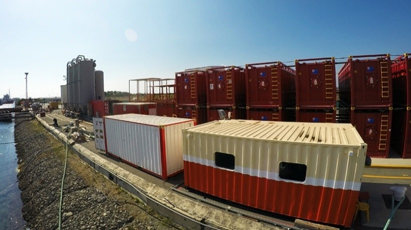 EDT Offshore - Oil & Gas Logistics Shorebase in the New Port of Limassol - Drilling Fluids Plant and Onsite Offices located by the Quayside