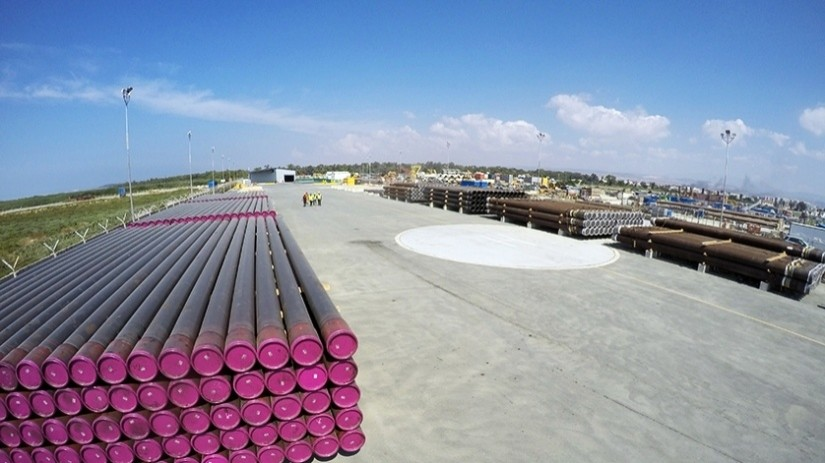EDT Offshore - Oil & Gas Logistics Shorebase in the New Port of Limassol - Pipe Storage Yard - Copyright: TOTAL E&P Cyprus B.V.