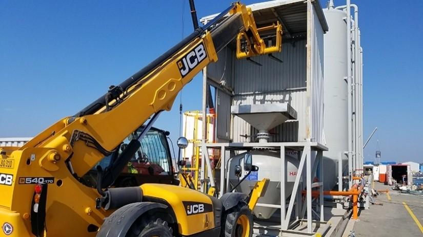 EDT Offshore - Oil & Gas Logistics Shorebase in the New Port of Limassol - Cement & Baryte Dry Bulk Cutting Pod